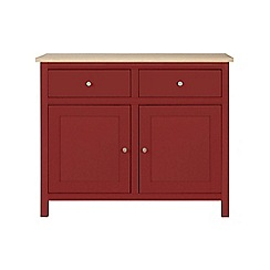 Corndell - Small dark red 'Marlow' sideboard