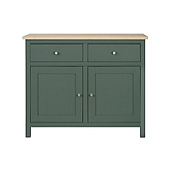 Corndell - Small dark green 'Marlow' sideboard