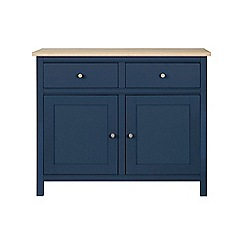Corndell - Small dark blue 'Marlow' sideboard