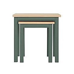 Corndell - Dark green 'Marlow' nest of 2 tables