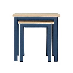 Corndell - Dark blue 'Marlow' nest of 2 tables