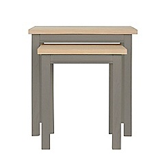 Corndell - Light grey 'Marlow' nest of 2 tables
