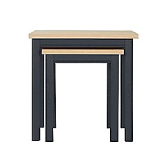 Corndell - Dark grey 'Marlow' nest of 2 tables