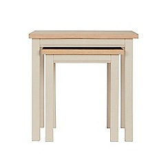 Corndell - Cream painted oak 'Marlow' nest of 2 tables