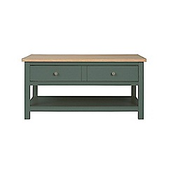 Corndell - Dark green 'Marlow' coffee table