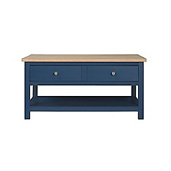 Corndell - Dark blue 'Marlow' coffee table