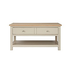 Corndell - Cream painted oak 'Marlow' coffee table