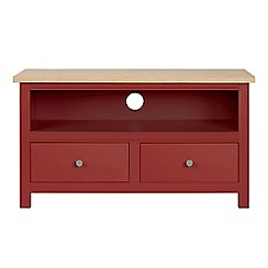 Corndell - Small dark red 'Marlow' TV unit