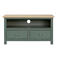 Corndell - Small dark green 'Marlow' TV unit
