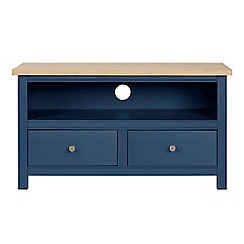 Corndell - Small dark blue 'Marlow' TV unit