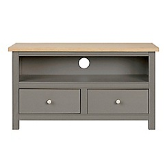 Corndell - Small light grey 'Marlow' TV unit