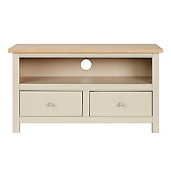 Corndell - Cream painted oak 'Marlow' small TV unit