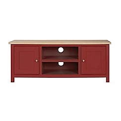 Corndell - Large dark red 'Marlow' TV unit