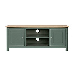 Corndell - Large dark green 'Marlow' TV unit
