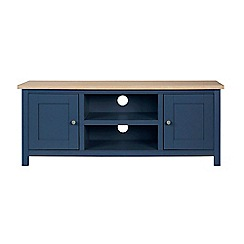 Corndell - Large dark blue 'Marlow' TV unit
