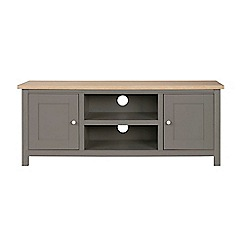 Corndell - Large light grey 'Marlow' TV unit