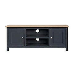 Corndell - Large dark grey 'Marlow' TV unit