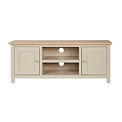 Corndell - Cream painted oak 'Marlow' large TV unit