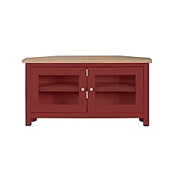 Corndell - Dark red 'Marlow' corner TV unit