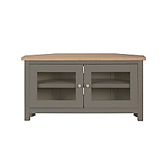 Corndell - Light grey 'Marlow' corner TV unit