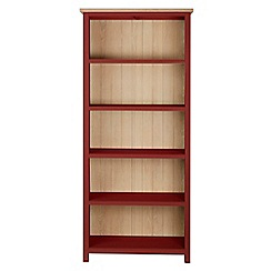 Corndell - Dark red 'Marlow' bookcase