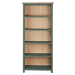 Corndell - Dark green 'Marlow' bookcase