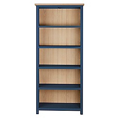 Corndell - Dark blue 'Marlow' bookcase