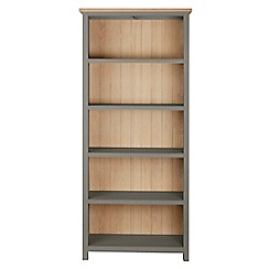 Corndell - Light grey 'Marlow' bookcase