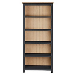 Corndell - Dark grey 'Marlow' bookcase