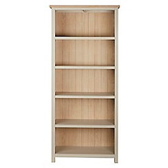 Corndell - Cream painted oak 'Marlow' bookcase