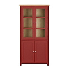 Corndell - Dark red glazed 'Marlow' cabinet
