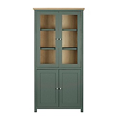 Corndell - Dark green glazed 'Marlow' cabinet