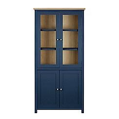 Corndell - Dark blue glazed 'Marlow' cabinet