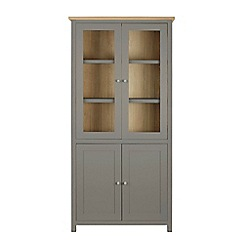 Corndell - Light grey glazed 'Marlow' cabinet