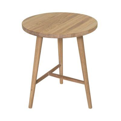 Willis Gambier Oak Effect Boston Round Side Table