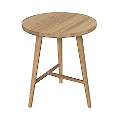 Willis & Gambier - Oak effect 'Boston' round side table