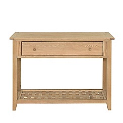 Willis & Gambier - Oak effect 'Boston' console table