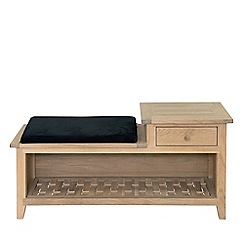 Willis & Gambier - Oak effect 'Boston' hallway bench