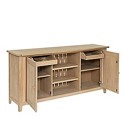 Willis & Gambier - Large oak effect 'Boston' sideboard