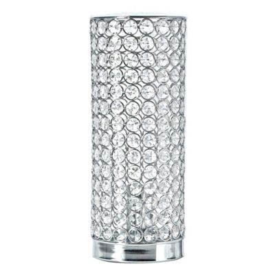 Star by julien macdonald silver diamant table lamp debenhams aloadofball Gallery