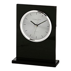London Clock - Black glass mantel clock