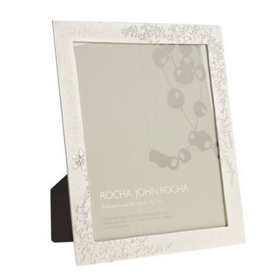 Champagne Floral Textured Photograph Frame