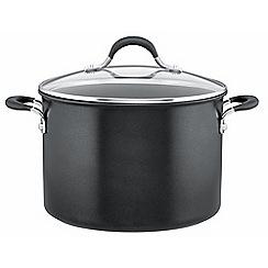 Circulon - Black non-stick aluminium 'Momentum' 24cm induction stock pot