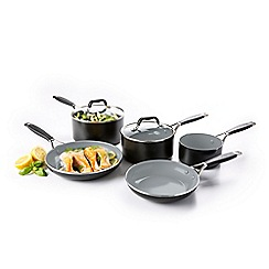 Green Pan - Black non-stick aluminium 'York' 5 piece induction cookware set