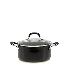 Home Collection - 24cm non-stick aluminium stock pot with lid