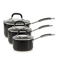 Home Collection - Three piece non-stick aluminium saucepan set