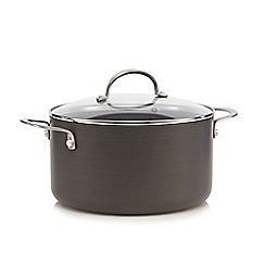 Home Collection - Hard anodised 24cm non-stick stockpot