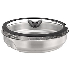 Tefal - Stainless steel 'Ingenio' steamer with glass lid