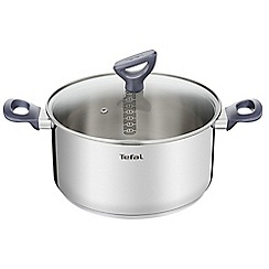 Tefal - Stainless steel 'Daily Cook' 24cm induction stew pot