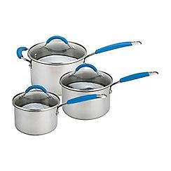 Joe wicks - Non-stick stainless steel 3 piece saucepan set